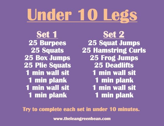 Time Challenge Lower Body Workout