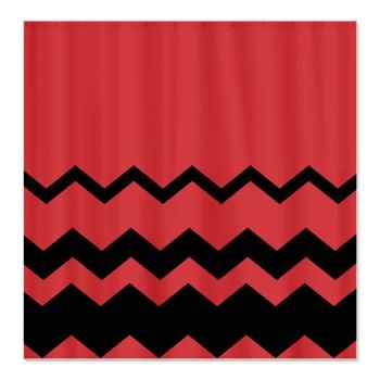 Curtains Ideas coral chevron shower curtain : 17 Best images about Shower Curtains on Pinterest | Red chevron ...