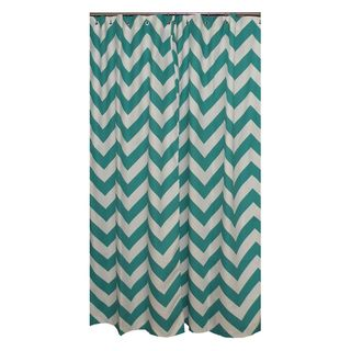 Chevron Turquoise Shower Curtain Over $100 for a shower curtain is CRAZY but I like the color...