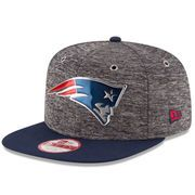 Youth New England Patriots New Era Heathered Gray/Heather Gray NFL Draft Original Fit 9FIFTY Adjustable Hat