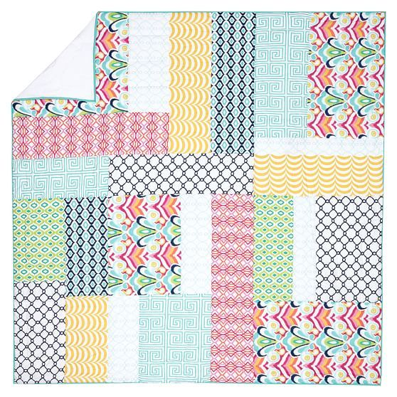 Palm Springs Patchwork Quilt Sham Kids Bedrooms