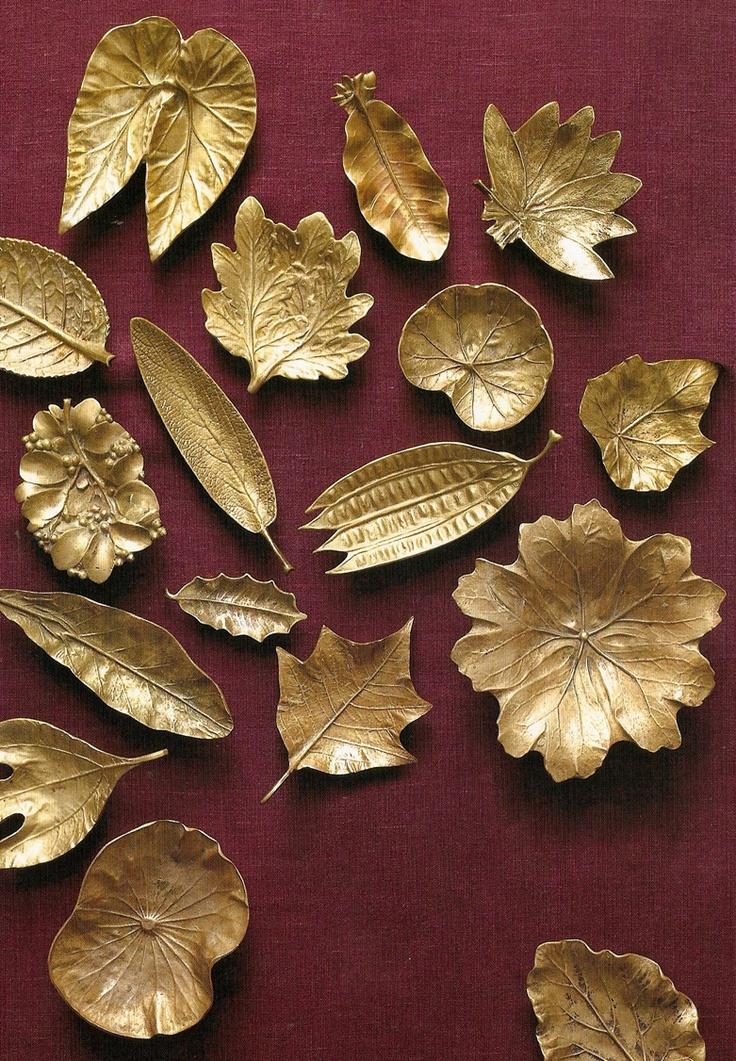 brass leaf platters