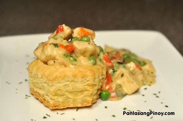 Chicken a la King is a creamy chicken recipe made from diced chicken breasts, cream sauce, and vegetables. This is served along with (or on top of) bread or pasta. The rich cream sauce is usually made from milk, flour and butter. This recipe is richer than most because of the use of heavy whipping cream.    I know that some of you are intimidated t