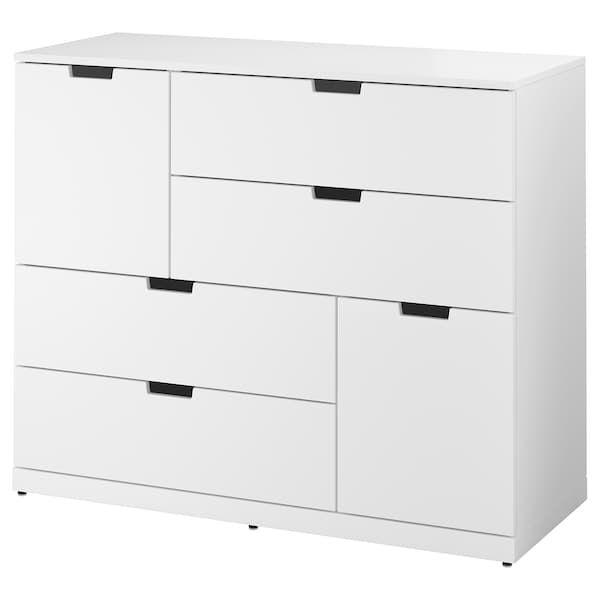 nordli commode 6 tiroirs blanc 120x99