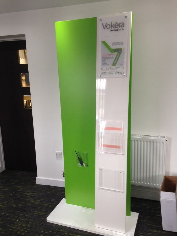 Image of Vokera stand minus the boiler.