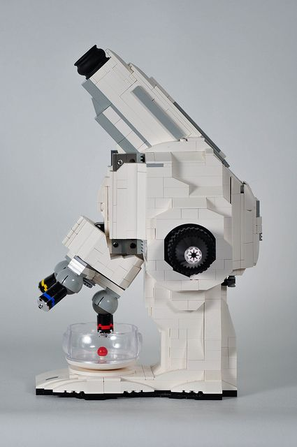 A (working!) microscope made from Legos.