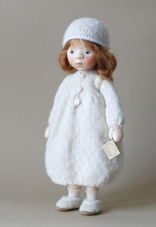 Girl In White Knit H344 by Elisabeth Pongratz at The Toy Shoppe