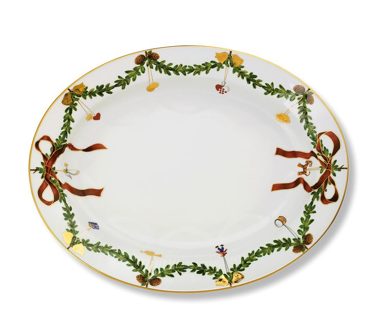 Stjerne Riflet Jul Fad 37 cm
