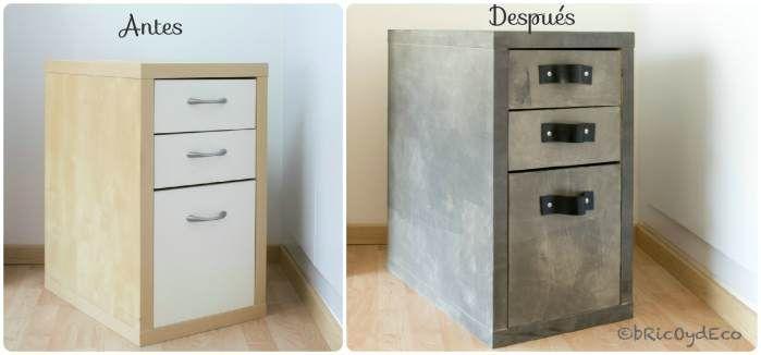 Como transformar un mueble de melamina con chalk paint casera en www.bricoydeco.com