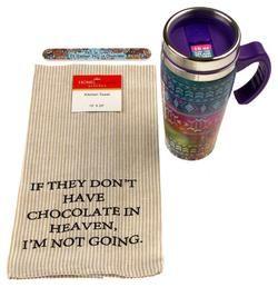 Southwestern Purple Coffee Travel Mug 16oz Chocolate Heaven Towel Women Gift Set