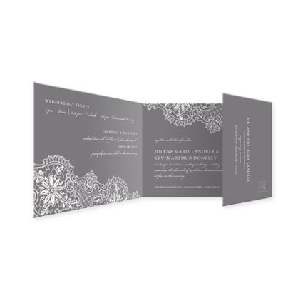 Lace Invitation eInvite Wedding Wedding Invitations All-In-One Invitations