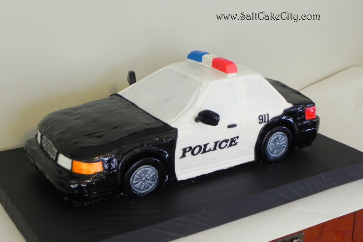 Police Car Groom's Cake