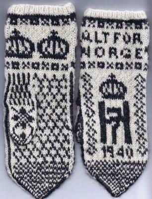 King of Norway Pattern 1940 - Norwegian Mittens