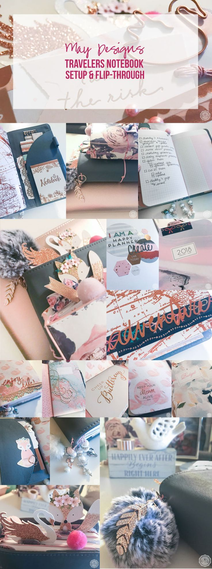 May Designs Travelers Notebook Setup and Flip-through