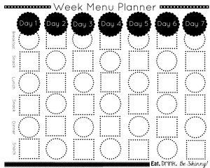 If your day and your life gets the best of you, you need this tool for time, stress and weight management! 5 Minute Menu Planning Template!