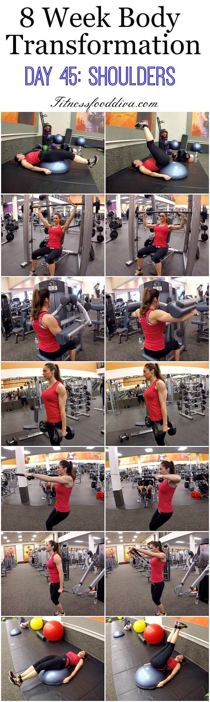 8 Week Body Transformation: Day 45 SHOULDERS.