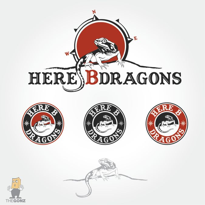 Bold logo for bearded dragon breeder by The gonz