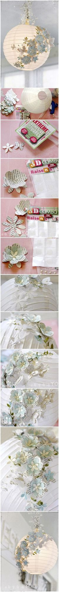 Such a pretty way to spruce up those ugly chinese lantern balls :)