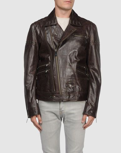LINE 336 MENS LEATHER JACKET BY VERSACE JEANS COUTURE