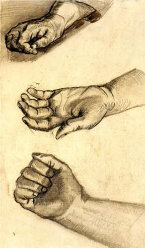 Three Hands  - Vincent van Gogh  Hands convey the sacred to me.  This image reminded me that there is a time for everything, but it seems important to spend most time with hands open to receive the gifts of the world from God.