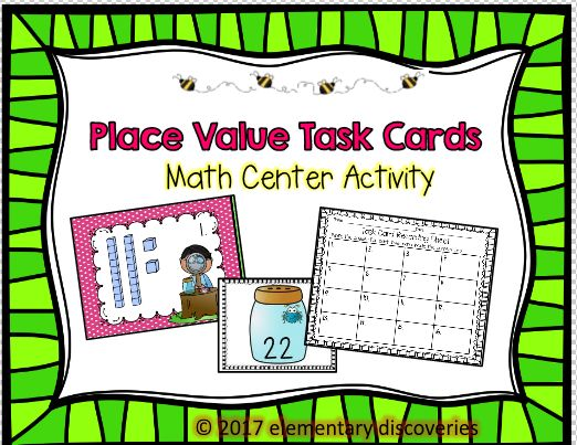 Are your students working on place value? This center activity includes task cards with tens and ones. Students will match the place value card with the correct number. Then they can record their answer on the answer sheet.