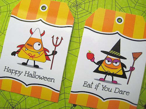 free tags for Halloween treats  Trick or Treat