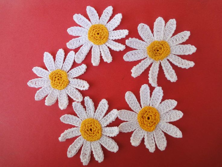 РОМАШКА  CAMOMILE Crochet