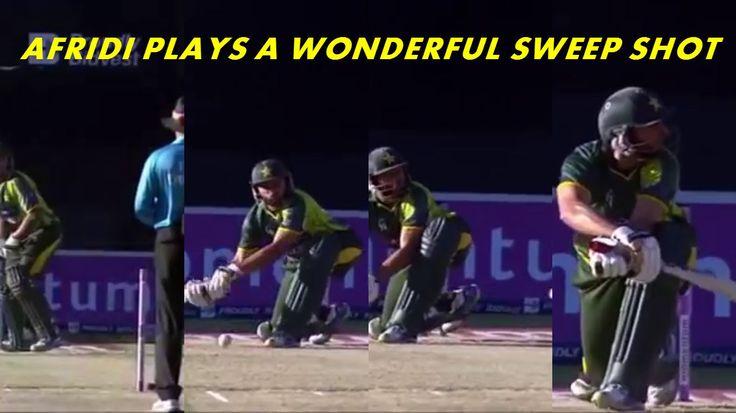 Shahid Afridi Plays an Incredible Shot against Tsotsobe  www.cricvista.com