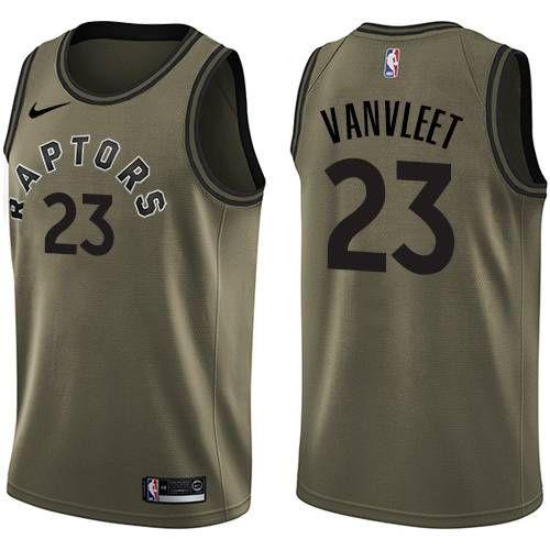 604569831 Nike Toronto Raptors  23 Fred VanVleet Green Salute to Service NBA Swingman  Jersey