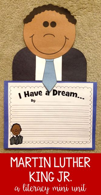 I love reading Martin's Big Words around Martin Luther King Jr. Day! My students focus on their dreams and use MLK Jr.'s journey as inspiration to finding their own voice! Then students love to complete these activities and crafts to show what they have l