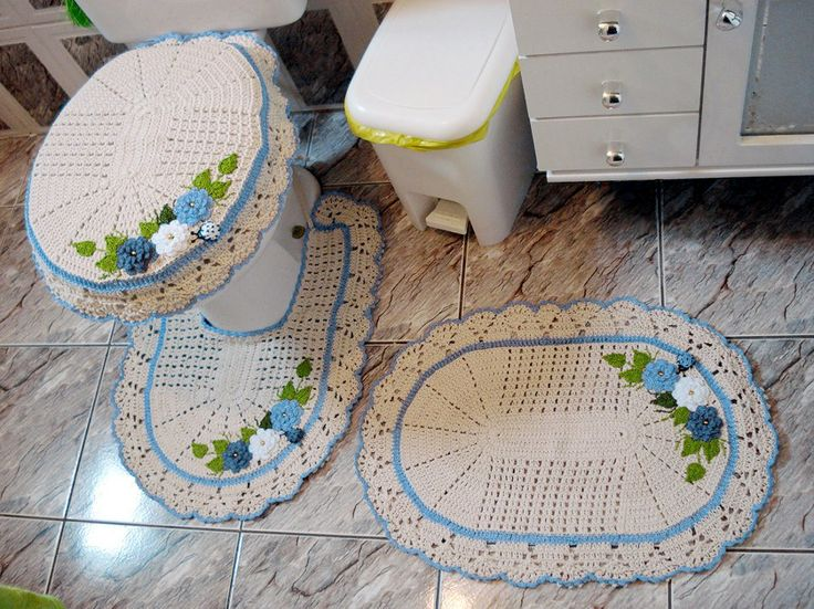 Bathroom Crafts  Bathroom Sets  Crochet Home  Crochet Rugs  Crochet Art  Crochet  Patterns  Crochet Decoration  Rest Room  Doilies. 345 best Crochet Bathroom images on Pinterest   Free crochet  Knit