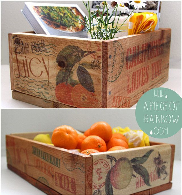 Make a charging station from pallet scrap wood, and clear up the clutter on your table or desk! Plus some gorgeous vintage crate labels as a free download!
