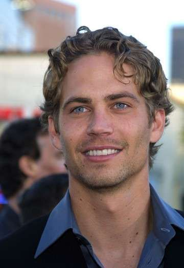 Young Paul Walker in Black Sports Coat with Blue Buttondown More