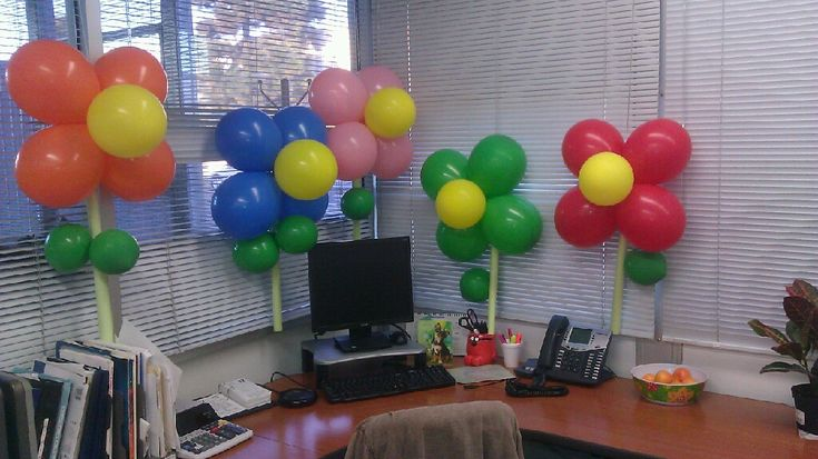 My co-worker Livy did this for another co-worker's birthday.  Such a good idea and she didn't even have to use any helium!