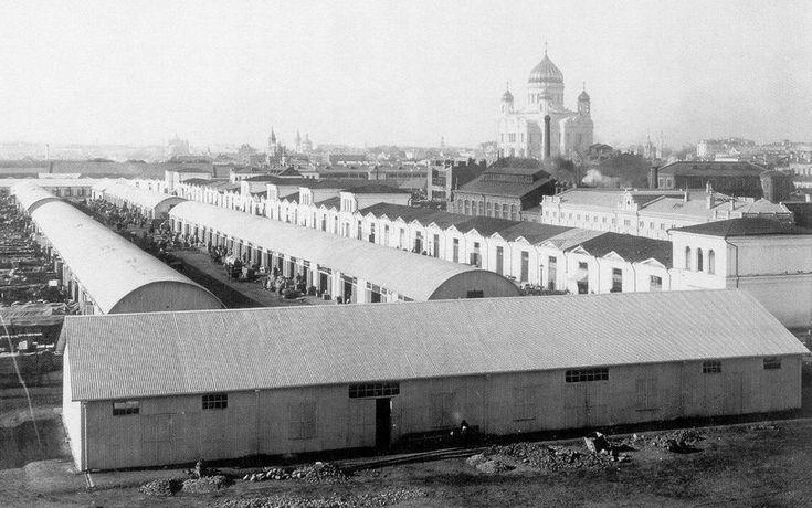 Болотная площадь, там был рынок в 1900-м. | Старые ...