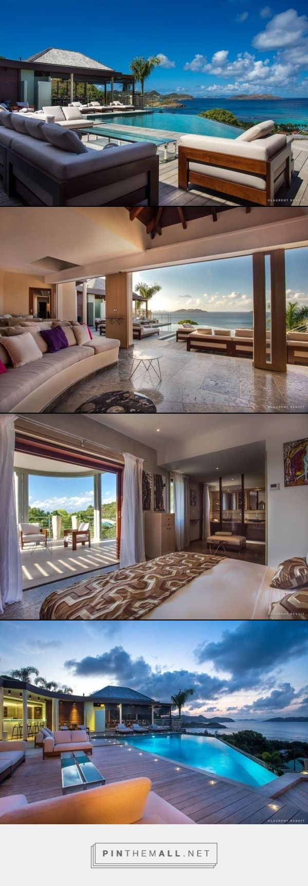 Villa Castle Rock- Camaruche, St. Barthelemy- WIMCO Villas, 5 bed 5 baths #travel #stbarths #caribbean #vacation #villarentals