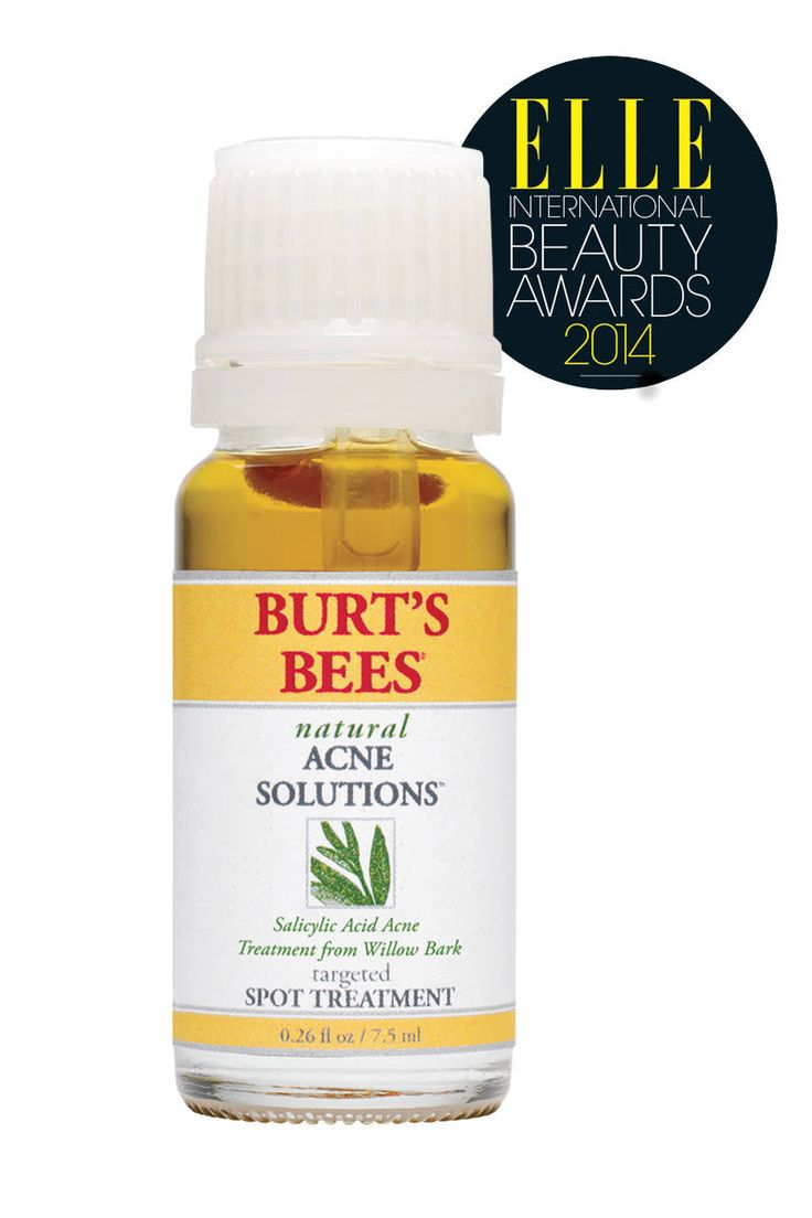 "Burt's Bees Natural Acne Solutions Targeted Spot Treatment improves the appearance of blemishes ""almost overnight."""