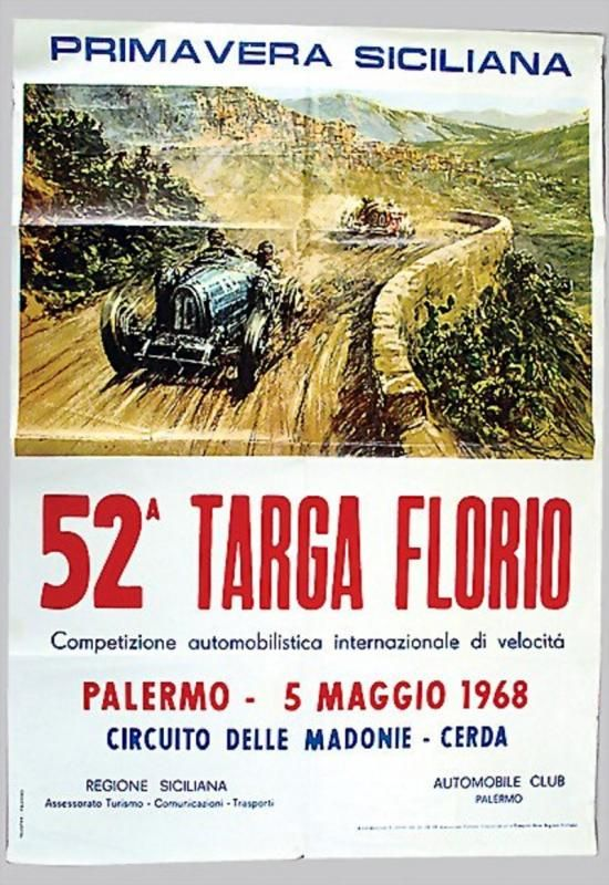 The Targa Florio was an open road endurance automobile race held in the mountains of Sicily near Palermo, Italy.