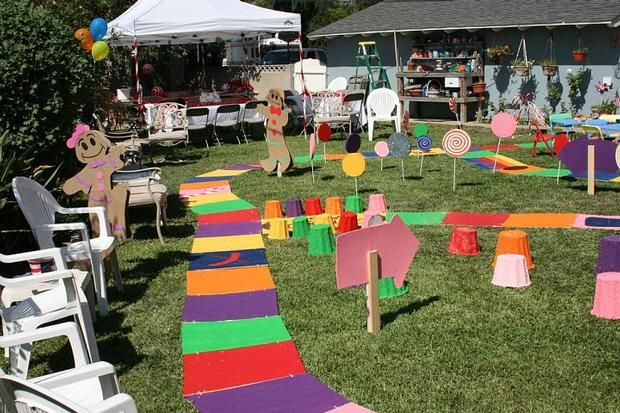 Create A Giant Candy Land Board For Your Backyard Party