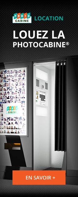 La Photocabine - Location (Tarif pour louer une cabine photo ou video type Photomaton®, moderne ou vintage, pour vos evenements pro ou maria...