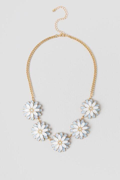 Annie Flower Statement Necklace #francescas