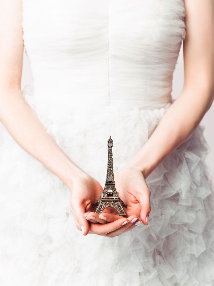 Paris wedding photographed by John Marchisi   Kelima K gown #pariswedding #couture #toureiffel