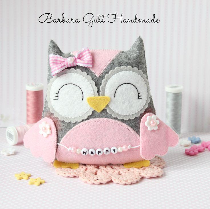 Barbara hecho a mano ...: Feliz búho / -inspiracja Búho feliz de Lemoncraft
