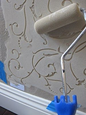 Easy way to stencil a wall - awesome project!