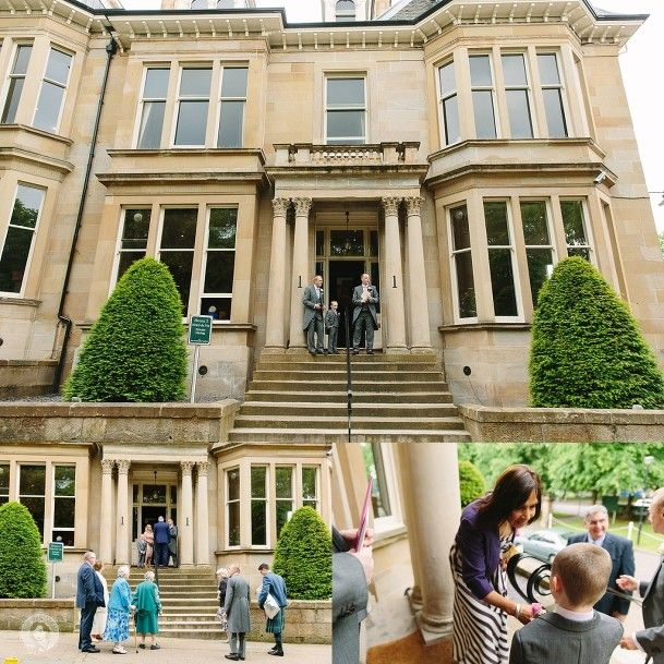 guests arriving Wedding One Devonshire Gardens, Glasgow by Struve Photography