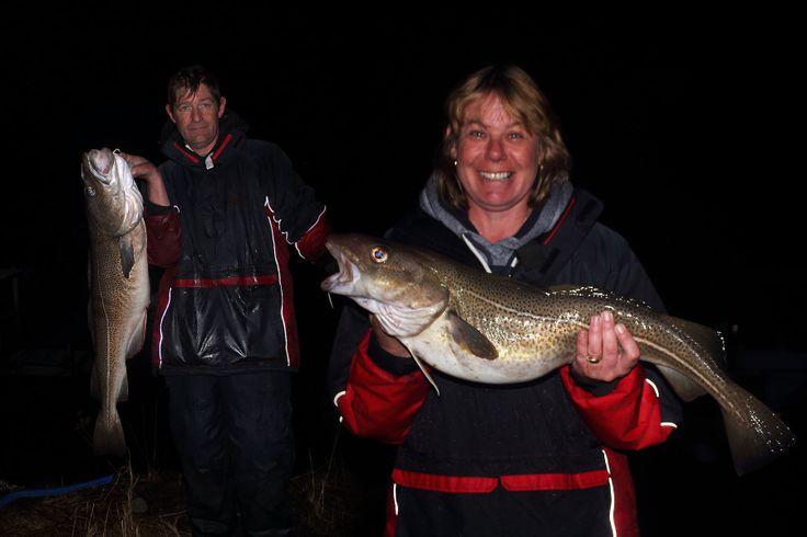 Rob and Lisa With some Nice cods..