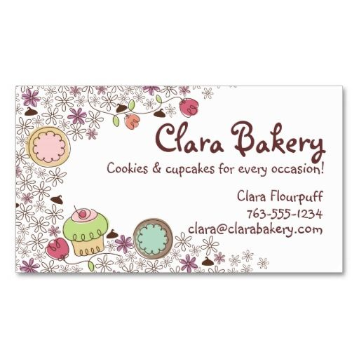 520 Best Bakery Business Card Templates Images On