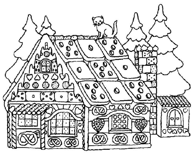Christmas House Coloring Pages Free Online Printable Sheets For Kids Get The Latest Images