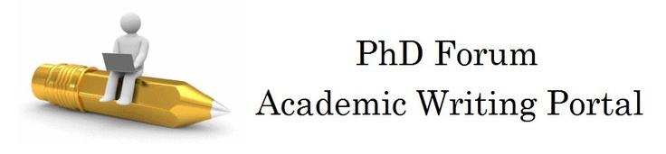 PhDForum: Academic Writing Portal Logo