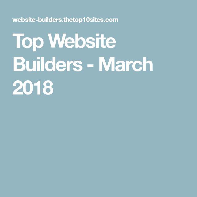 Top Website Builders - March 2018